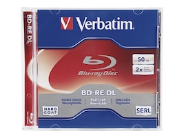 Verbatim 2x 50GB BD-RE DL Disc (Jewel Case), 97536, 12633761, Blu-Ray Media