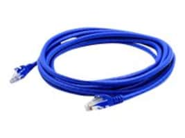 ACP-EP CAT6A Gigabit Molded Snagless RJ-45 Patch Cable, Blue, 15ft., ADD-15FCAT6A-BLUE, 15602135, Cables