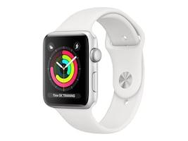 Apple Watch Series 3 GPS, 38mm Silver Aluminum Case, White Sport Band, MTEY2LL/A, 36142035, Wearable Technology - Apple Watch Series 1-3
