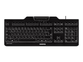 Cherry USB Keyboard w  High Performance PCSC EMV Smart Card Reader, Black, JK-A0100EU-2, 22522070, Keyboards & Keypads
