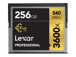 Crucial 256GB Professional 3600x CFast 2.0 Memory Card, LC256CRBNA3600, 32244499, Memory - Flash