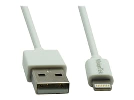 VisionTek Lightning to USB Type A M M Cable, White, 1m, 900862, 31471841, Cables