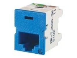 Ortronics Clarity 6 TracJack, T568A B, 180 Degree, Blue, TJ600-36, 15408463, Premise Wiring Equipment