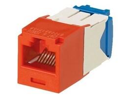 Panduit Mini-Com Cat6a Modular Insert, 10Gb s, Red, CJ6X88TGRD, 10693939, Premise Wiring Equipment
