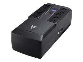 V7 Desktop 750VA UPS LCD (10) Outlets 120V USB RJ-45, UPS1DT750-1N, 33414656, Battery Backup/UPS