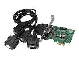Siig 4-port DP CyberSerial 4S PCIe Serial Controller, JJ-E40011-S3, 10104049, Controller Cards & I/O Boards
