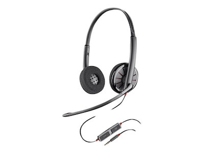 Plantronics BlackWire 225 Stereo Headset, 205204-02, 31635519, Headsets (w/ microphone)