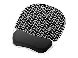 Fellowes Photo Gel Mouse Pad Wrist Rest w  Microban, Black Chevron, 9549901, 33602121, Ergonomic Products
