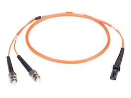 Black Box Fiber Riser Cable, LC-ST, 62.5 125, Duplex, Mutlimode, Orange, 3m, EFN110-003M-STLC, 11654801, Cables