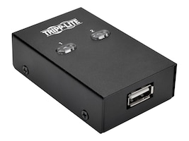 Tripp Lite 2-Port USB 2.0 Hi-Speed Printer Peripheral Sharing Switch, U215-002, 33615458, Switch Boxes