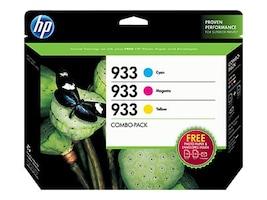 HP 933 (N9H56FN) Cyan Magenta Yellow Original Ink Cartridge Combo Pack, N9H56FN#140, 30806970, Ink Cartridges & Ink Refill Kits - OEM