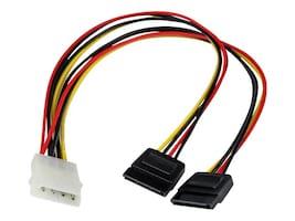 StarTech.com Internal Power Splitter Cable, (1) LP4 to (2) SATA, PYO2LP4SATA, 5182421, Power Cords