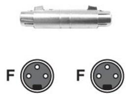 Hosa Audio XLR Gender Changer (F-F), GXX-145, 14050501, Adapters & Port Converters