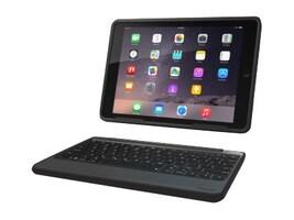 Zagg Rugged Book Keyboard Folio Case for iPad Air 2, Black, ID6RGK-BB0, 18368401, Keyboards & Keypads