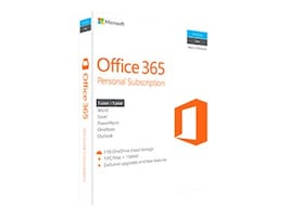Microsoft Corp. Office 365 Personal Mac Win English Sub P2 1 License NA Only Medialess 1 Year **NO RETURNS**, QQ2-00597, 32343382, Software - Office Suites