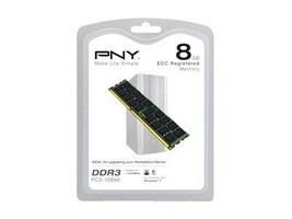 PNY 8GB PC3-10600 240-pin DDR3 SDRAM DIMM, MD8192SD3-1333-ECC, 13527055, Memory