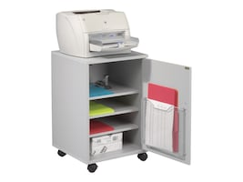 Balt Single Fax Laser Printer Stand Cabinet, Gray, 27502, 34750740, Furniture - Miscellaneous