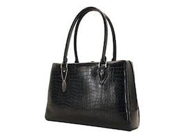 Mobile Edge 17.3 Milano Faux-Croc Laptop Handbag, Black, MEMC1L, 35401883, Carrying Cases - Notebook