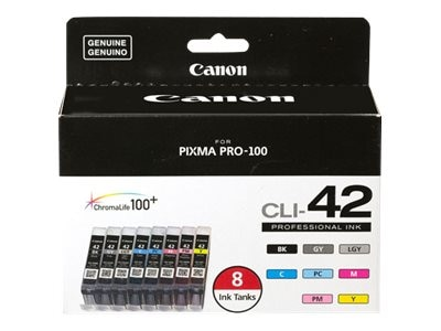 Canon CLI-42 Ink for PIXMA Pro-100, 8-Pack, 6384B007, 31877905, Ink Cartridges & Ink Refill Kits - OEM