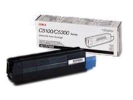 Oki Black Toner Cartridge for C5100 C5200 C5300 C5400 C5510 Series Printers, 42127404, 427323, Toner and Imaging Components
