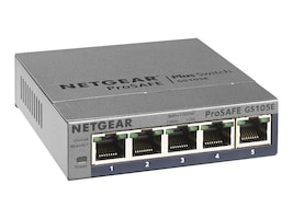 Netgear ProSafe Plus 5-Port GbE Switch, GS105E-200NAS, 16637727, Network Switches