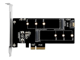 Vantec M.2 NVMe + M.2 SATA SSD PCIe x4 Adapter, UGT-M2PC200, 37302109, Adapters & Port Converters