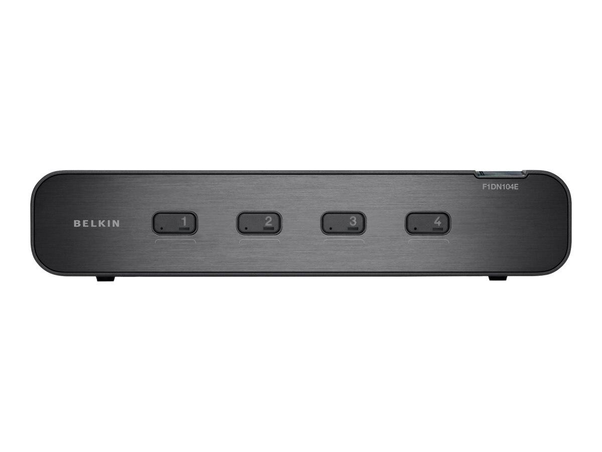 Belkin OmniView Secure 4-Port Dual Head DVI-I KVM, F1DN104E, 13003260, KVM Switches