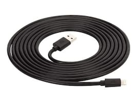 Griffin USB Type A to Lightning M M Cable, Black, 10ft, GC36633-3, 34857694, Cables