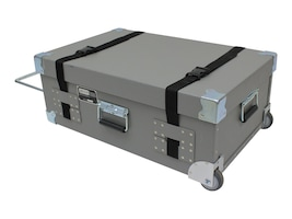 Jelco Custom Storage Case for Projector, Buckle Closures, Tilt Wheels, NSBS-Y, 30007537, Carrying Cases - Other