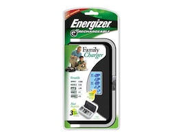 Energizer NiMH Family Battery Charger with LCD Display, CHFC, 8055292, Battery Chargers
