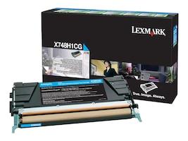 Lexmark Cyan High Yield Return Program Toner Cartridge for X748 Series Color Laser MFPs, X748H1CG, 14012811, Toner and Imaging Components - OEM