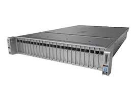 Cisco UCS C240 M4S (2x)Xeon E5-2620 v4 32GB MRAID 32GB SD 2x1200W Rails, UCS-SPR-C240M4-BS2, 32203321, Servers
