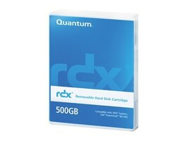 Quantum 500GB Uncompressed RDX Cartridge, MR050-A01A, 12107366, Removable Drive Cartridges & Accessories
