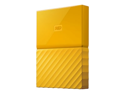 WD 3TB My Passport USB 3.0 Portable Hard Drive - Yellow, WDBYFT0030BYL-WESN, 35750135, Hard Drives - External