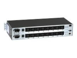 Black Box Horizontal Rackmount Remote Power Manager, 208-240VAC, Dual Circuit, (16) IEC-320 C13 Outlets, PS583A-R2, 32996244, Power Distribution Units