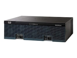Cisco 3945 Router w 3xGbE, 4xEHWIC, 4xDSP, 4xSM, IP Base, CISCO3945/K9, 10704909, Network Voice Routers
