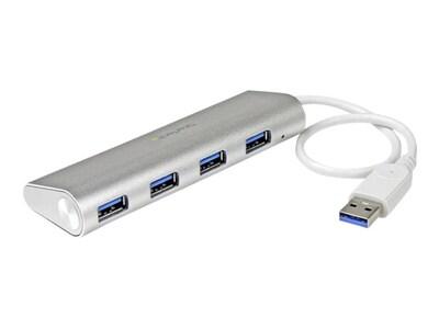 StarTech.com 4-Port Portable USB 3.0 Hub w Built-in Cable, ST43004UA, 30896160, USB & Firewire Hubs