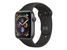 Apple Watch Series 4 GPS, 40mm Space Gray Aluminum Case, Black Sport Band, MU662LL/A, 36142220, Wearable Technology - Apple