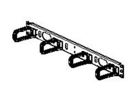 Panduit Cable Management D-Ring Panel, Horizontal, RoHS, CMPHF1, 8580951, Rack Cable Management