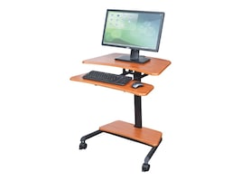 Balt Up-Rite Mobile Workstation with Adjustable Sit Stand Desk, 90459, 35714871, Furniture - Miscellaneous