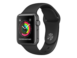 Apple Watch Series 2, 38mm, Space Gray Aluminum Case with Black Sport Band, MP0D2LL/A, 32667766, Wearable Technology - Apple