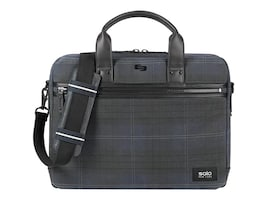 SOLO 15.6 Bryce Slim Brief, Plaid, HLD100-51, 35982139, Carrying Cases - Notebook