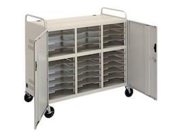 Da-Lite CT-LS30 Laptop Storage Cart with Power Strips, 7526, 33153222, Computer Carts