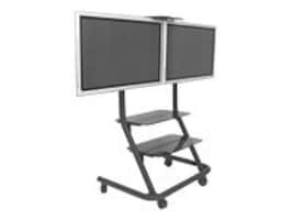 Chief Manufacturing Dual Display Video Conferencing Cart, PPD2000B, 17498087, Audio/Video Conference Hardware