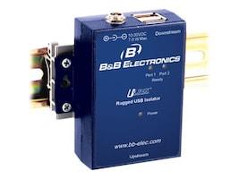 B+B SmartWorx 2-Port Rugged USB Isolator, 4kV Isolation, DIN Rail Mounting, UHR402, 33772509, Premise Wiring Equipment