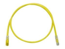 Panduit CAT6A 24AWG UTP TX6A 10Gig Modular Plug Patch Cable, Yellow, 5m, UTPK6A5MYL, 35431898, Cables