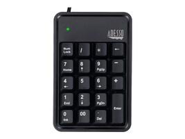 Adesso Durable 19-Key USB Numeric Keypad w  Built-In 3-Port USB Hub, AKB-600HB, 35008408, Keyboards & Keypads