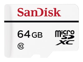 SanDisk 64GB High Endurance Video Monitoring microSDXC Memory Card with SD Adapter, Class 10, SDSDQQ-064G-G46A, 19014007, Memory - Flash