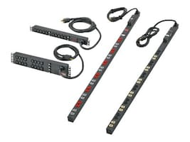 Panduit Basic 1U Local Meter Rack PDU 120V 20A, 5-20P Input, (10) 5-20R Outlets, H1M1B1C0A10AKA0, 35137074, Power Distribution Units