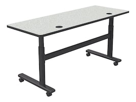 Balt 60w x 24d Dry Erase Top Adjustable Height Flipper Table - Rectangle, 90316-MRKR-BK, 35717431, Furniture - Miscellaneous